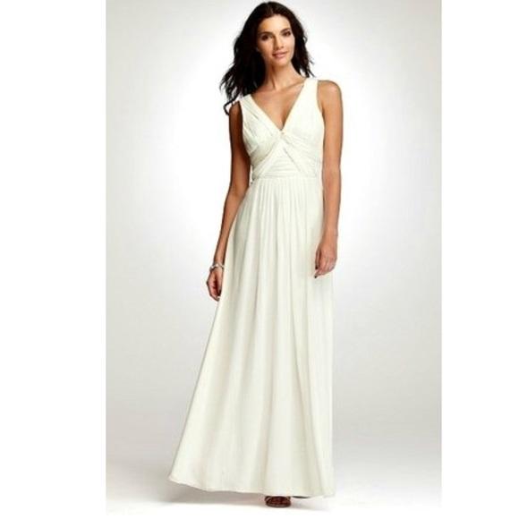 Ann Taylor Dresses | Briana White Silk Wedding Dress | Poshmark